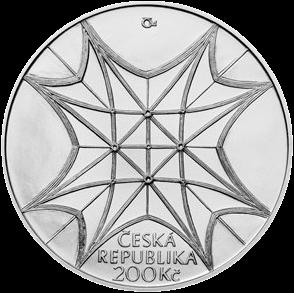 Чехия монета 200 крон 650-летие освящения часовни Св. Вацлава в Соборе Святого Вита, аверс