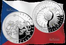 Чехия монета 200 крон Чешское Астрономическое общество