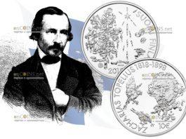 Финляндия монета 10 евро Захариас Топелиус