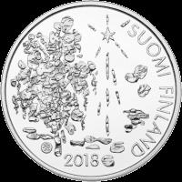 Финляндия монета 10 евро Захариас Топелиус, аверс