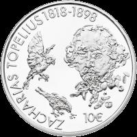 Финляндия монета 10 евро Захариас Топелиус, реверс