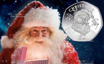 Гибралтар монета 50 центов Рождество