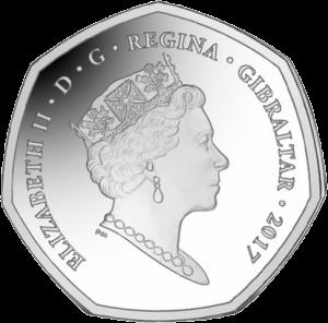 Гибралтар монета 50 центов Рождество, аверс