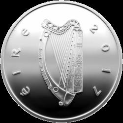 Ирландия монета 15 евро Путешествие Гулливера, аверс