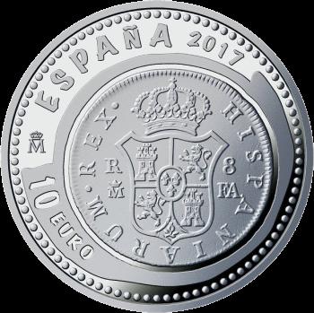 Испания монета 10 евро Дом Бурбона, аверс