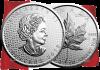 Канада монета 5 долларов Кленовый лист 2018