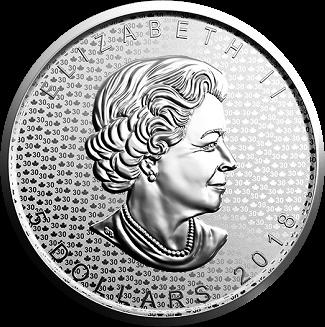 Канада монета 5 долларов Кленовый лист 2018, аверс