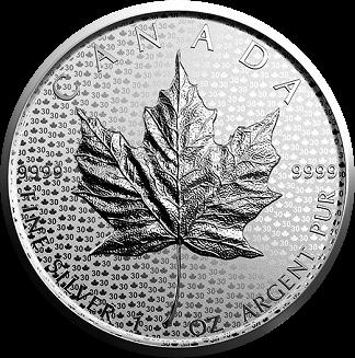 Канада монета 5 долларов Кленовый лист 2018, реверс