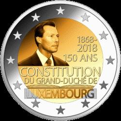 Люксембург монета 2 евро 150 лет Конституции Люксембурга, реверс