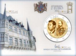 Люксембург монета 2 евро Великий Герцог Гийом III