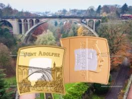Люксембург монета 2,5 евро мост Адольфа