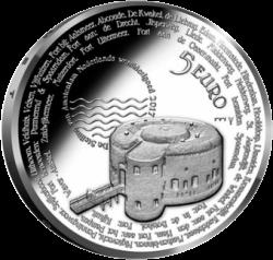Нидерланды 5 евро линия обороны Амстердама, реверс