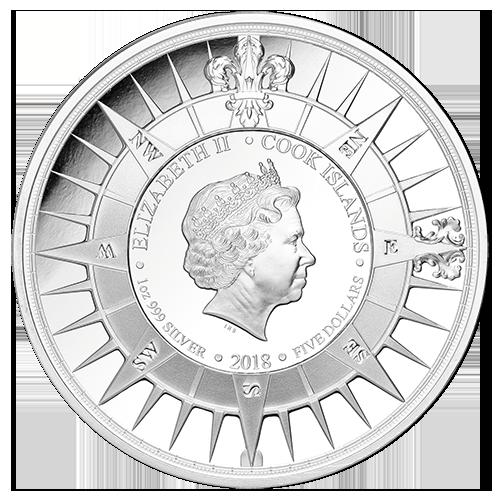 Острова Кука набор монет Капитан Джеймс Кук, аверс