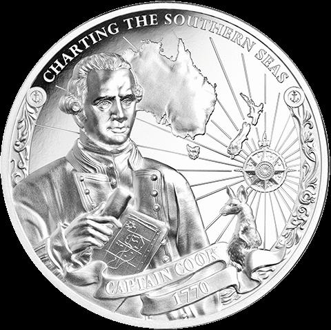 Острова Кука набор монет Капитан Джеймс Кук - CHARTING THE SOUTHERN SEAS, реверс