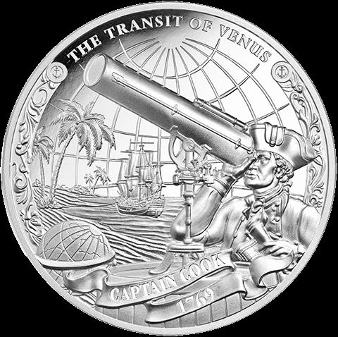 Острова Кука набор монет Капитан Джеймс Кук - THE TRANSIT OF VENUS, реверс