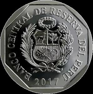 Перу монета 1 соль Андский кондор, аверс