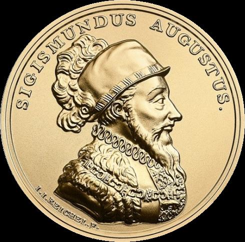 Польша монета 500 злотых король Сигизмунда II Август, реверс