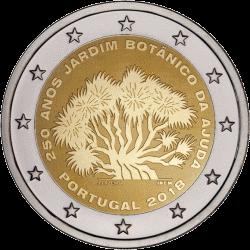 Португалия монета 2 евро Ботанический сад Ажуда, реверс