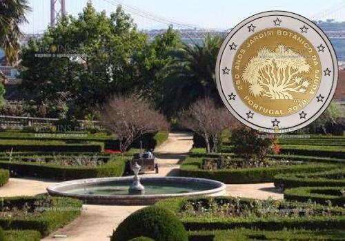 Португалия монета 2 евро Ботанический сад Ажуда