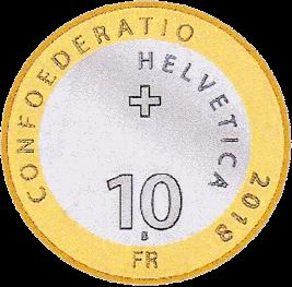 Швейцария монета 10 франков Серебряный чертополох, аверс