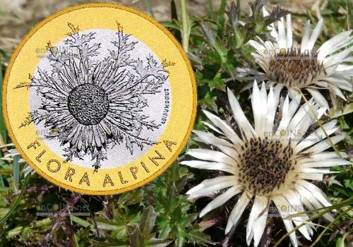 Швейцария монета 10 франков Серебряный чертополох