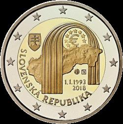 Словакия монет 2 евро Республики Словакии, реверс