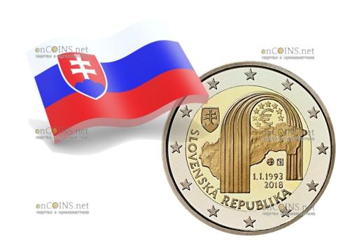 Словакия монет 2 евро Республики Словакии