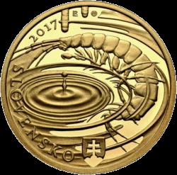 Словакия монета 100 евро Словацкий Карст, аверс