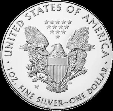 США монета 1 доллар Американский орел 2018, аверс