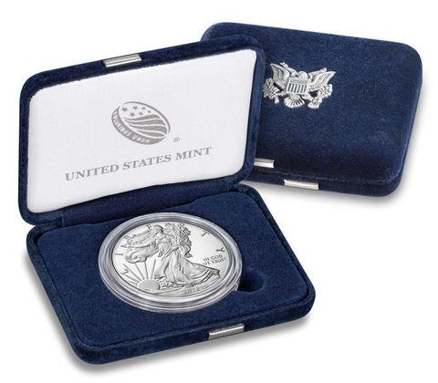 США монета 1 доллар Американский орел 2018, подарочная упаковка