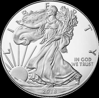 США монета 1 доллар Американский орел 2018, реверс