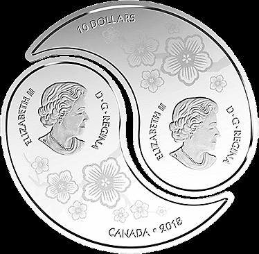 В Канаде появится монета 10 долларов Дракон и Тигр, аверс