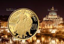 Ватикан монета 200 евро Крепость