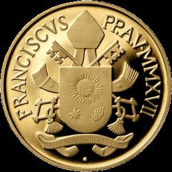 Ватикан монета 200 евро Крепость, аверс
