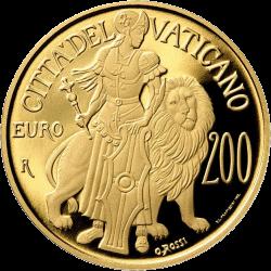 Ватикан монета 200 евро Крепость, реверс
