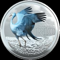 ЮАР монета 10 рандов Африканская красавка, реверс