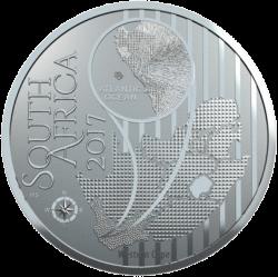 ЮАР монета 10 рандов Африканская красавка, аверс
