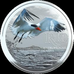 ЮАР монета 10 рандов Каспийская крачка, реверс