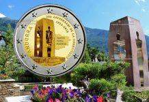 Андорра монета 2 евро 25 лет Конституции Андорры