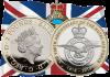 Англия монета 2 фунта 100-летие Королевских ВВС