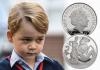 Англия монета 5 фунтов 5-летие Его Королевского Высочества принца Джорджа Кембриджского