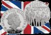 Англия монета 50 пенсов 100-летие принятия Закона Британии О народонаселении