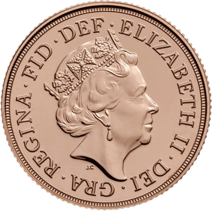 Англия монета соверен 2018 года, аверс