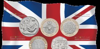 Англия памятный набор коллекционных монет 2018 года