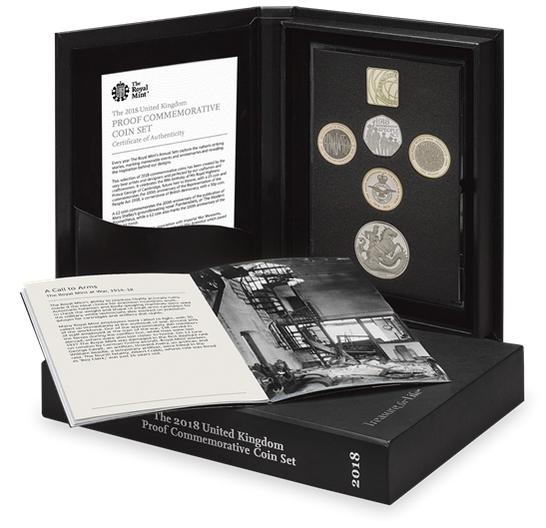 Англия памятный набор монет 2018 год
