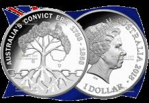 Австралия монета 1 доллар Эпоха каторжников