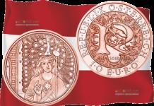 Австрия монета 10 евро Ангел-Хранитель Рафаэль
