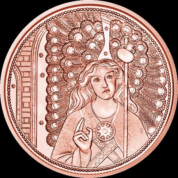 Австрия монета 10 евро Ангел-Хранитель Рафаэль, реверс