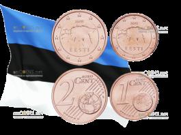 Банк Эстонии собирается отказаться от использования на территории страны монеты 1 и 2 евроцента