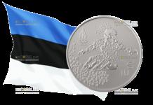 Эстония монета 10 евро Олимпийские игры в Пхёнчхане
